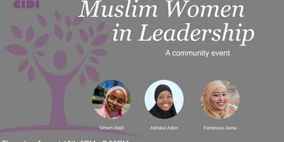 Muslim Women in Leadership: A Community Event
