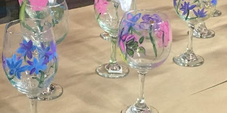 AN EVENING OF PAINTING SUMMER FLOWERS ON WINE GLASSES tickets