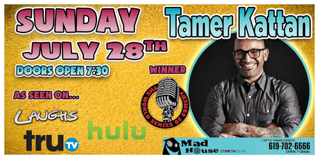 Comedian Tamer Kattan, Champion of the World Series of Comedy! tickets