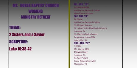 MT.  HOREB MBC, WOMEN OF WORTH (WOW), WOMEN'S MINISTRY RETREAT tickets