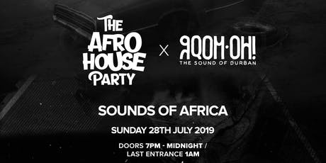 The Afro House Party x GQOM-OH Records  tickets