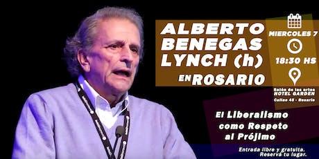 """Alberto Benegas Lynch (h) presenta """"El liberalismo como respeto al prójimo"""" entradas"""