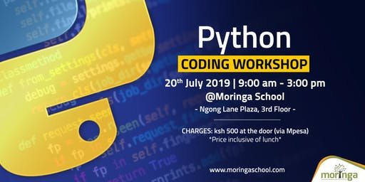 Python Coding workshop - Beginner level