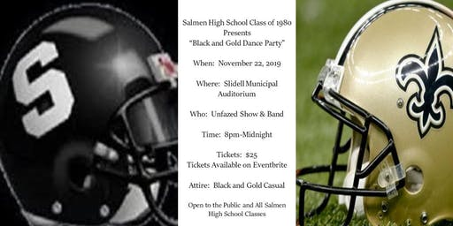 Salmen High School Class of 1980 Black and Gold Dance Party