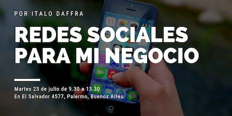 Workshop Redes Sociales para mi negocio entradas
