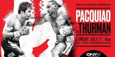 WBA Welterweight Title - Pacquiao vs. Thurman tickets