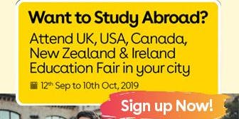 Want to Study Abroad? Attend UK, USA, Canada, New Zealand & Ireland Education Fair in Jaipur