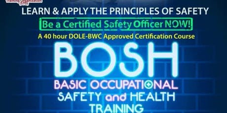 BOSH: Basic Occupational Safety and Health Training tickets