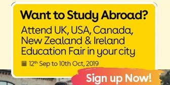 Want to Study Abroad? Attend UK, USA, Canada, New Zealand & Ireland Education Fair in Gurgaon