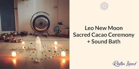 Leo New Moon Sacred Cacao Ceremony + Sound Bath tickets