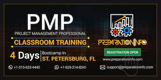 PMP Certification Classroom 4 Days Weekday Training in St. Petersburg, Florida