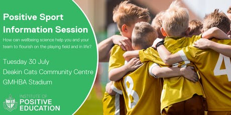 Positive Sport Information Session, Geelong (July 2019) tickets