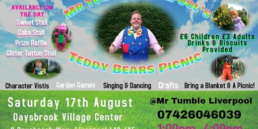 Mr Tumble Liverpool's Teddy Bear's Picnic Daysbrook Village