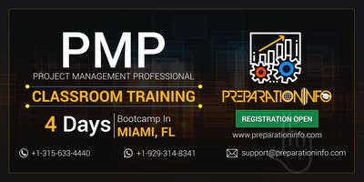 PMP 4 Days Bootcamp Training and Certification Program in Miami, Florida