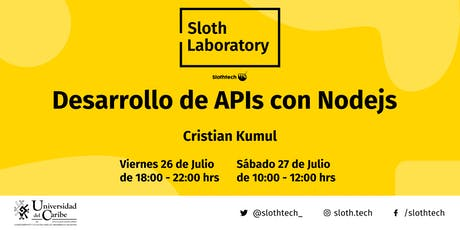 Sloth Laboratory: Desarrollo de APIs con Nodejs - Julio 2019 entradas