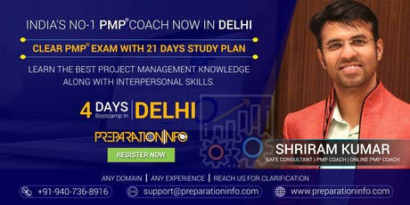 PMP Classroom Training & Certification Program in Delhi tickets