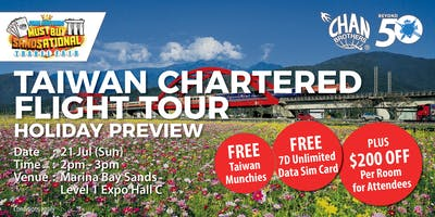 Taiwan Chartered Flight Tour Holiday Preview