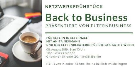 Netzwerkfrühstück: Back to Business Tickets