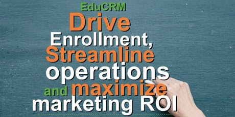Edu CRM: Drive Enrolment, Streamline Operations and Maximise Marketing ROI tickets