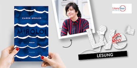 LESUNG: Karen Köhler Tickets