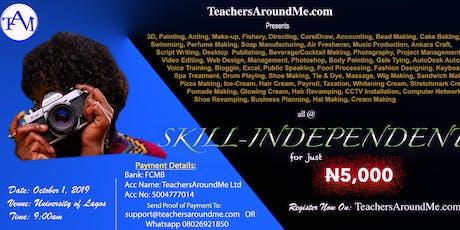 TeachersAroundMe.com SKILL-INDEPENDENT tickets