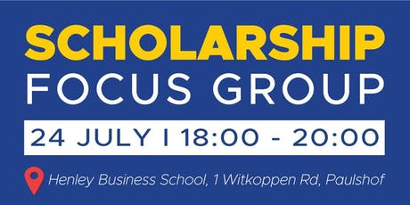 Scholarship Focus Group tickets