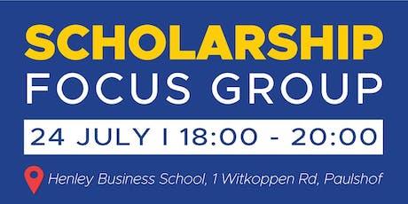 Scholarship Focus Group tickets