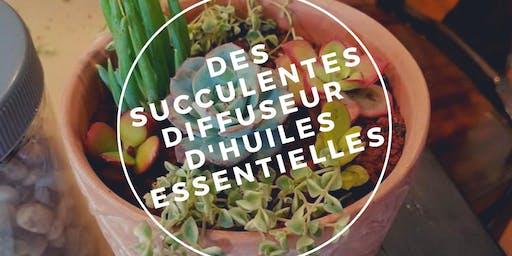 DES SUCCULENTES DIFFUSEUR D'HUILES ESSENTIELLES
