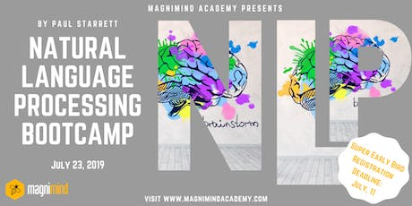 Natural Language Processing Bootcamp (2 weeks - 14 hours) tickets