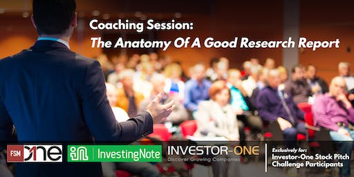 Coaching Session: Anatomy Of A Good Research Report