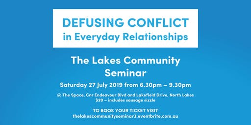 Defusing Conflict - in Everyday Relationships