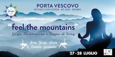 feel the mountains | YOGA e Bagno di Gong