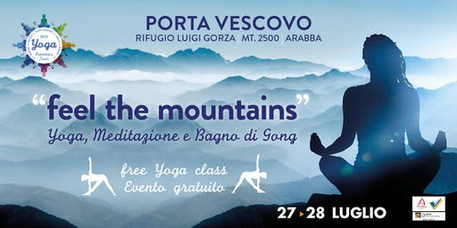 feel the mountains | YOGA e Bagno di Gong