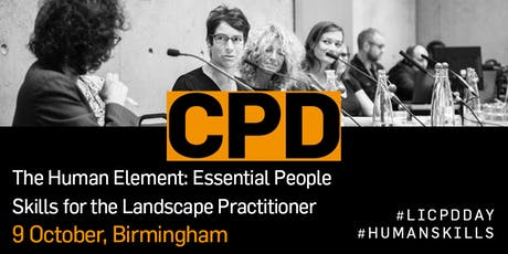 The Human Element: Essential engagement skills for the landscape practitioner tickets