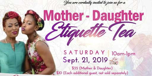 Mother Daughter Etiquette Tea