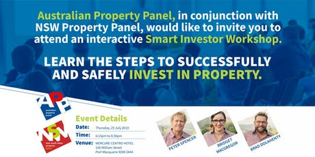 Port Macquarie   Learn the Steps to Successfully and Safely Invest in Property tickets