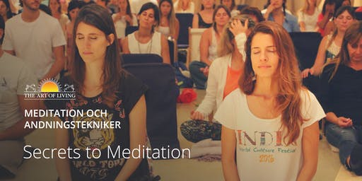 ".""Secrets to Meditation"" i Stockholm"