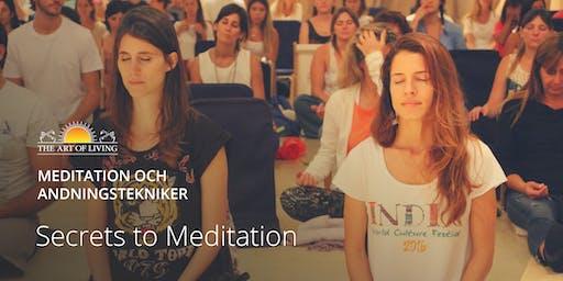 """.""""Secrets to Meditation"""" i Stockholm"""