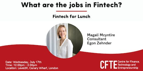 What are the jobs in Fintech? tickets
