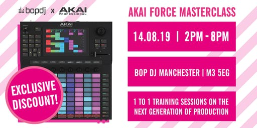 AKAI FORCE – MANCHESTER IN-STORE TRAINING WITH AKAI PRO PRODUCT SPECIALIST