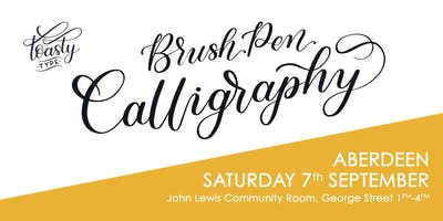 Beginners Brush Pen Calligraphy Aberdeen Edition!
