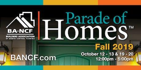 2019 Fall Parade of Homes™ tickets
