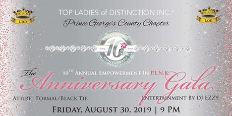 TLOD, Inc. Prince George's County Chapter 10th Anniversary Gala Fundraiser tickets
