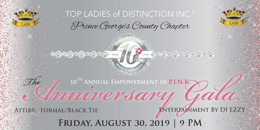 TLOD, Inc. Prince George's County Chapter 10th Anniversary Gala Fundraiser