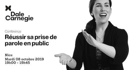 Réussir sa prise de parole en public - Conférence à Nice billets