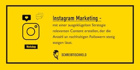 Workshop Instagram Marketing mit Benedikt Friedrich // SCHREIBTISCHHELD Tickets