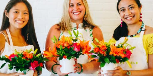 St. Vrain Cidery Fabulous Fresh Flower Arranging Fun