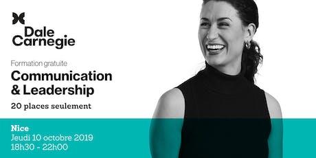 Communication & Leadership - Soirée de formation gratuite à Nice billets