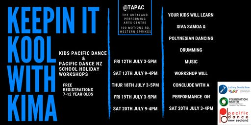 KEEPING IT KOOL WITH KIMA - KIDS PACIFIC DANCE & PACIFIC DANCE NZ WORKSHOP