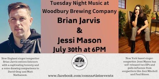 Brian Jarvis and Jessi Mason at The Woodbury Brewing Company